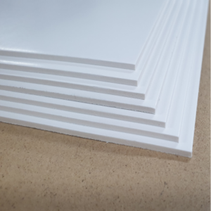 A stack of blank screenboard signs